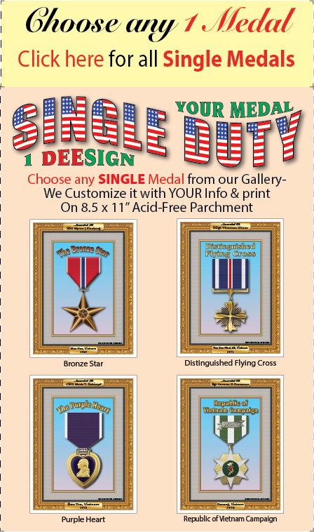 Single Duty Medals
