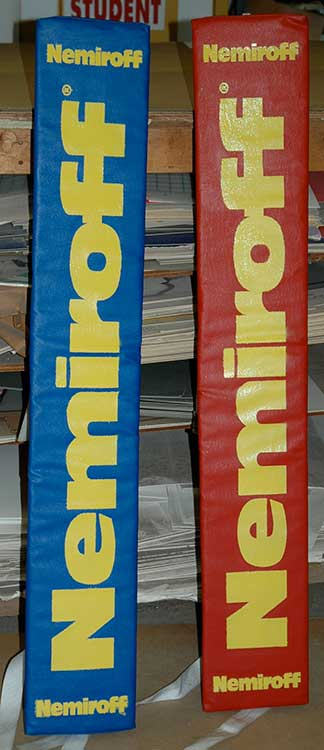 boxing corner pads that read 'Nemiroff'