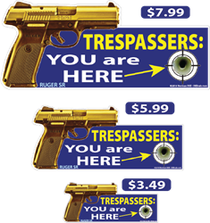 Trespassers: You Are Here deecal, deecals, trespassers, trespasser, you, are, here, you are here, warning, shot, shots, warning shots, ruger, sr, ruger sr
