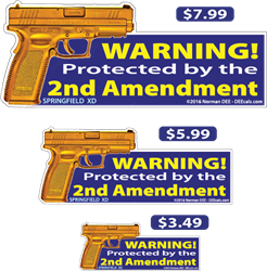 Protected by the 2nd Amendment deecal, deecals, warning, protect, protected, 2nd, second, amendment, 2nd amendment, second amendment, warning, shot, shots, warning shots, springfield, xd, springfield xd
